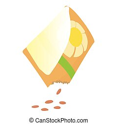 Flower seeds icon, cartoon style - Flower seeds icon....