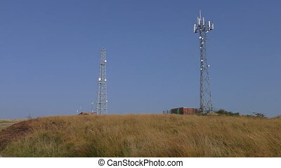 Telecommunications tower and building - Telecommunications...