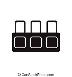 Flat icon in black and white tribune judge - Flat icon in...