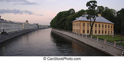 Early morning Fontanka river and Summer garden. - Fontanka...
