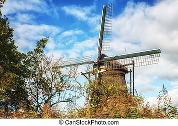 Historic windmill at Kinderdijk