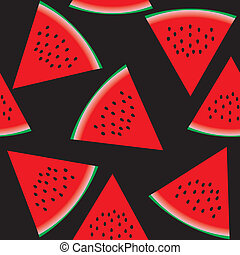 Seamless pattern with watermelon, part 2, vector...