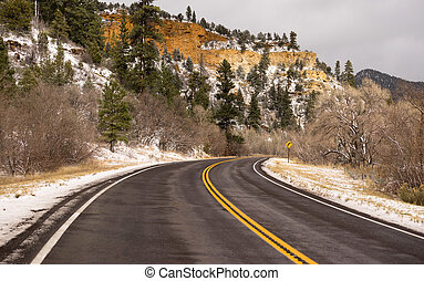 Icy Roadway Utah Territory Highway 89 Winter Travel - The...