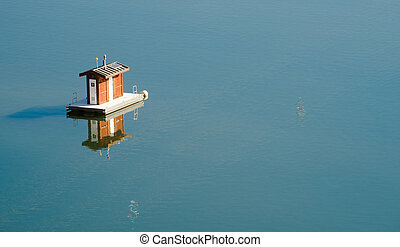 Portable Floating Restroom Lake Shasta Oasis Smooth Water -...