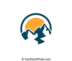 Mountain Logo template - High Mountain icon Logo Business...