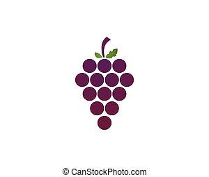 Grape logo template vector icon