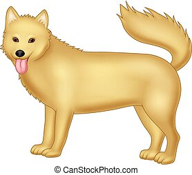 Cartoon dog isolated on white background - Vector...