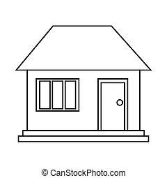 house home family residential outline
