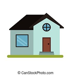 house home property round window vector illustration eps 10