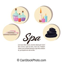 poster spa collection elements care treatment