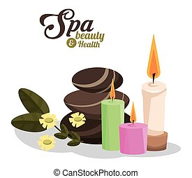 spa beauty and health hot stones scented candles