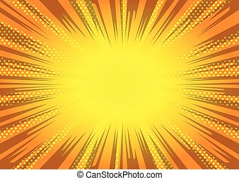 Comic book style background. - Vector illustrated cartoon,...