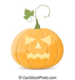 Halloween pumpkin on white background. EPS8