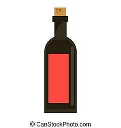 black bottle wine with red label