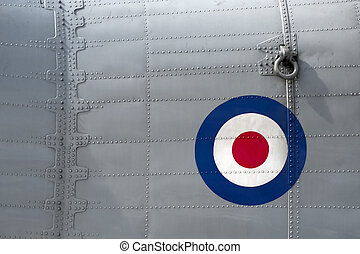 aircraft rivets - riveted fuselage panel on vintage british...