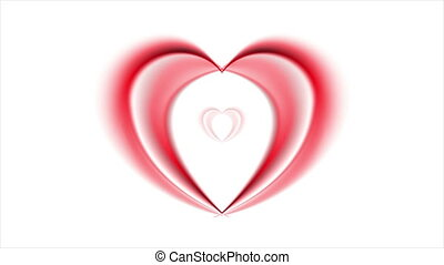 Bright red hearts video animation - Bright red hearts on...