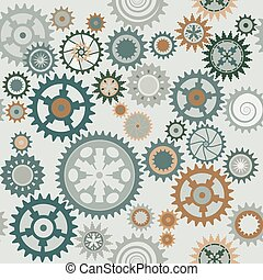 Clocks cog-wheels pattern