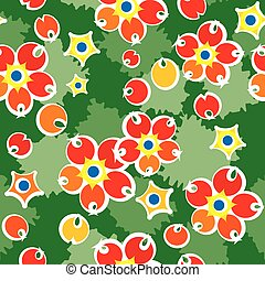 Barberry summery pattern