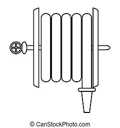 fire hose holding wall line vector illustration eps 10