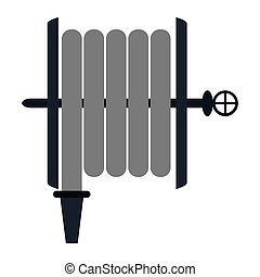 fire hose holding wall vector illustration eps 10