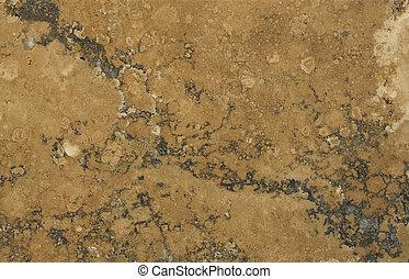 trawertyn, próbka,  rust-coloured, powierzchnia