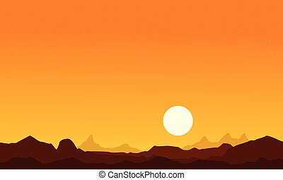 At sunrise desert scenery background collection