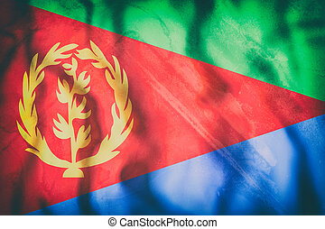 Eritrea flag waving - 3d rendering of an old Eritrea flag...