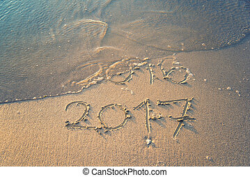 happy new year 2017 - 2017 is begining