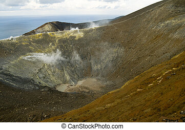 Vulcano, the Aeolian island in the tyrrhenian sea north of...