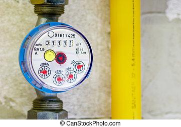 Wasserzhler - Messuhr fr Wasserverbrauch Gauge for water...