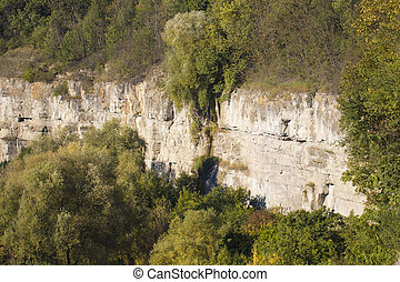 rock structure in the Canyon on a sunny day