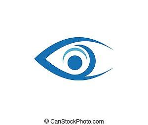 Eye care Logo Template icon