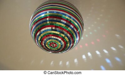 Disco Ball Mirrors Spin. Disco ball spinning and sparkling...
