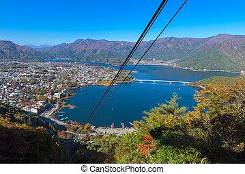 Lake Kawaguchi - view of Lake Kawaguchi from Ropeway,...