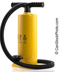 Manual air pump for inflating airbeds, beach balls etc