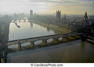 Early morning light on the River Thames in London