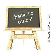 blackboard with back to school mess