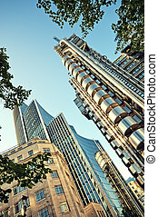 Lloyd`s of London - The Lloyds Building and Willis Building...