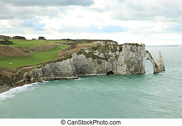 Etretat - Bay of Etretat, Normandy, France