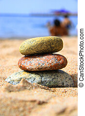 Stones on the seashore