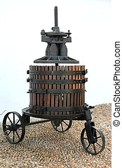 Ancient Wine Press - Antique wine press from the 1800s in...