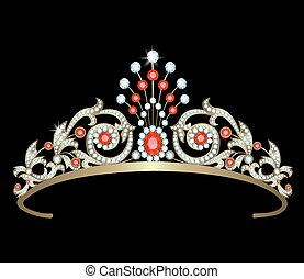 Diadem with diamonds