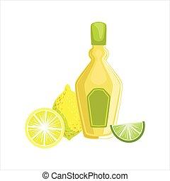 cocina, mexicano, menú, Tequila, Bebida, Ilustración,...