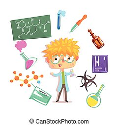 Boy Chemist, Kids Future Dream Professional Occupation...