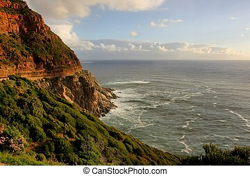 Beautiful Coastline - Coastline and mountains at Chapman's...