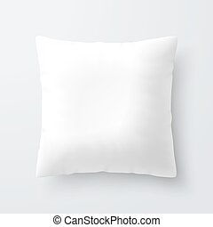 Blank white square pillow / cushion illustration