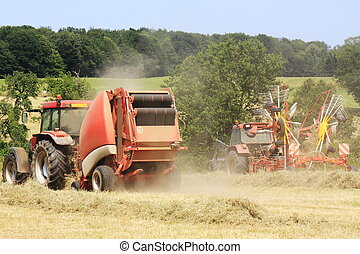 Agriculture - Baling Hay