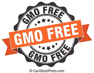 gmo free stamp. sign. seal
