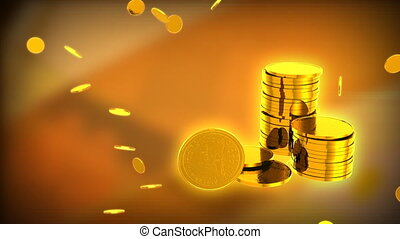 GOLDEN COINS - Computer-rendered animation for financial TV...