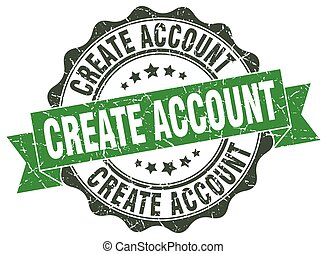 create account stamp. sign. seal
